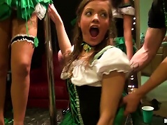 And Brunette Teens Suck And Fuck In St Patrick's Day Party